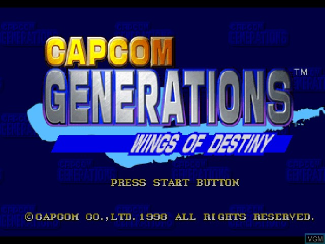 Title screen of the game Capcom Generations on Sony Playstation