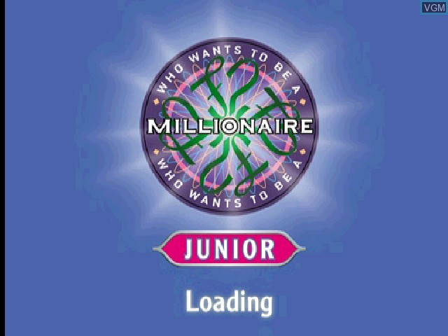 Title screen of the game Who Wants to Be a Millionaire - Junior on Sony Playstation