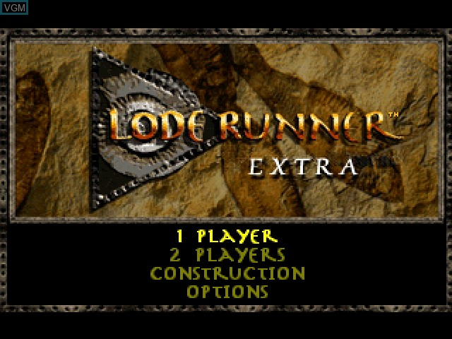 Title screen of the game Lode Runner Extra on Sony Playstation