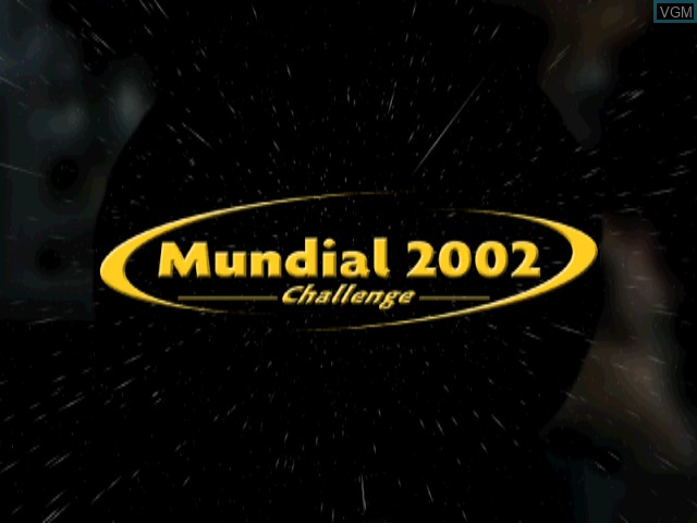 Title screen of the game Mundial 2002 Challenge on Sony Playstation