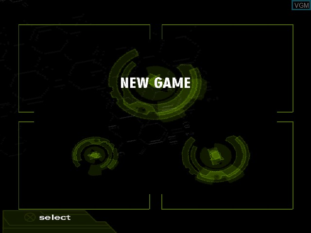 Menu screen of the game Fear Effect 2 - Retro Helix on Sony Playstation