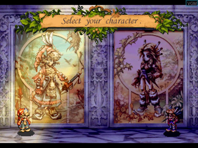 Menu screen of the game Legend of Mana on Sony Playstation