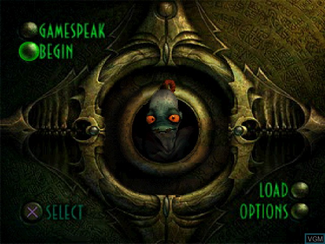 Menu screen of the game Oddworld - Abe's Exoddus on Sony Playstation