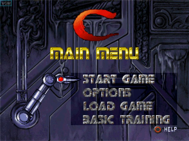Menu screen of the game C - The Contra Adventure on Sony Playstation