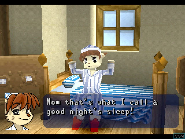 Menu screen of the game Tail Concerto on Sony Playstation