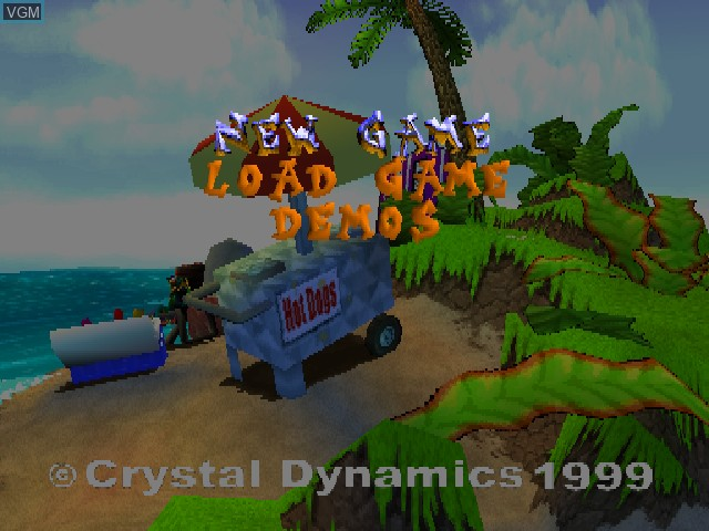 Menu screen of the game Gex 3 - Deep Cover Gecko on Sony Playstation