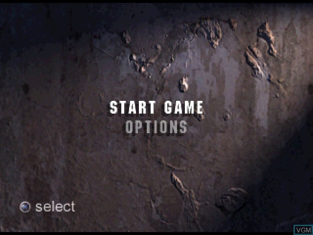 Menu screen of the game Tunnel B1 on Sony Playstation