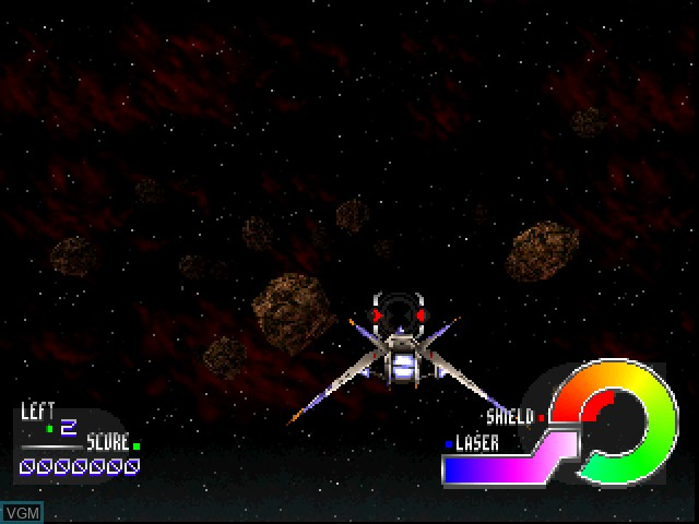 Menu screen of the game Jupiter Strike on Sony Playstation