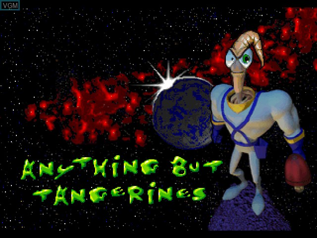 Menu screen of the game Earthworm Jim 2 on Sony Playstation