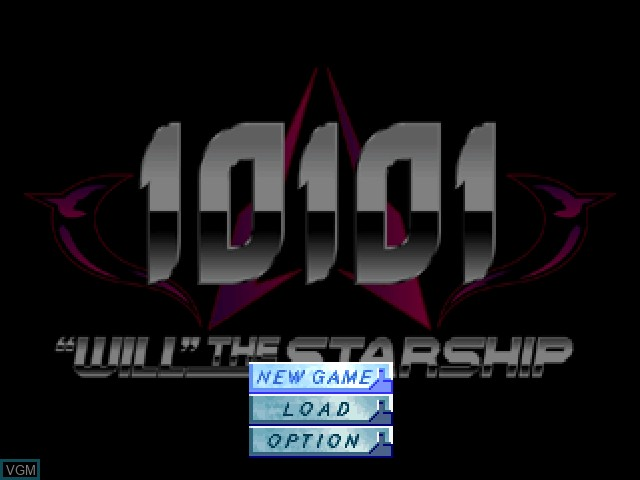 Menu screen of the game 10101 - Will the Starship on Sony Playstation