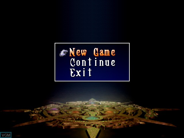 Menu screen of the game AbalaBurn on Sony Playstation