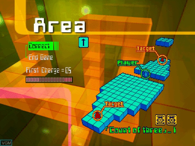 Menu screen of the game Acid on Sony Playstation
