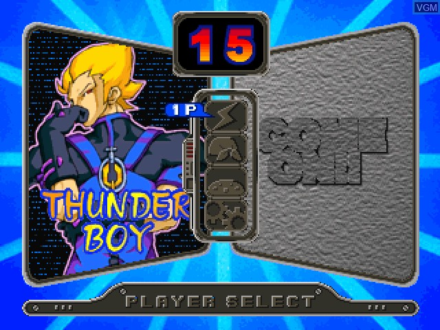 Menu screen of the game Air Hockey on Sony Playstation