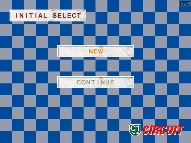 Menu screen of the game C1 - Circuit on Sony Playstation