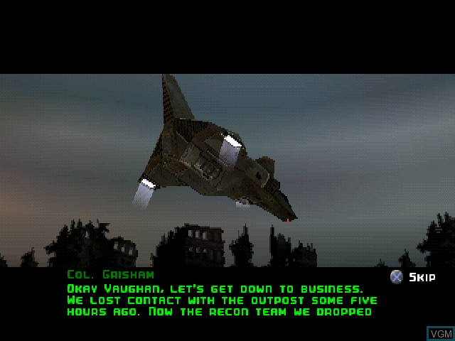 Menu screen of the game C-12 - Final Resistance on Sony Playstation