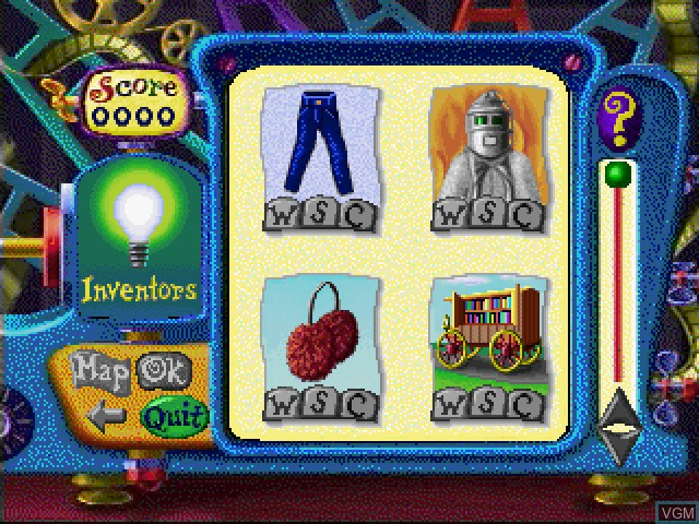 Menu screen of the game Calamity 2 - People and Traditions on Sony Playstation