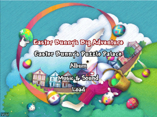 Menu screen of the game Easter Bunny's Big Day on Sony Playstation