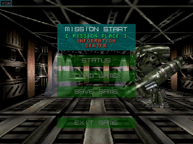 Menu screen of the game Epidemic on Sony Playstation