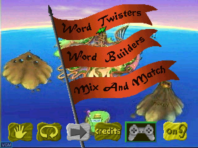 Menu screen of the game Faire Games - Language Arts on Sony Playstation