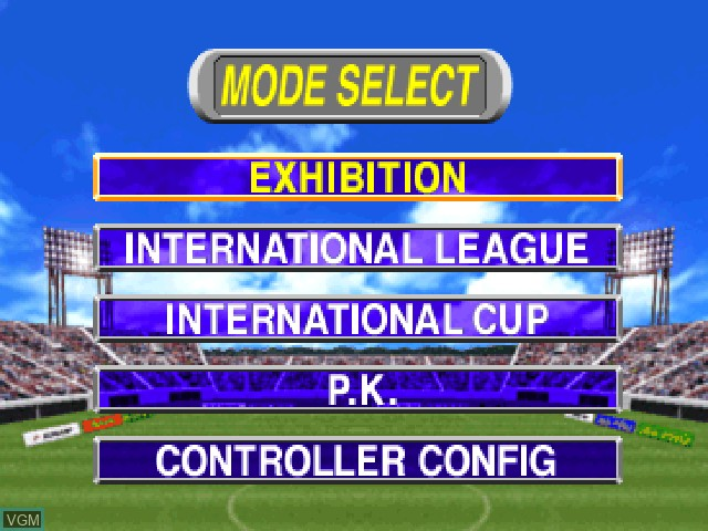 Goal Storm '97 for Sony Playstation - The Video Games Museum
