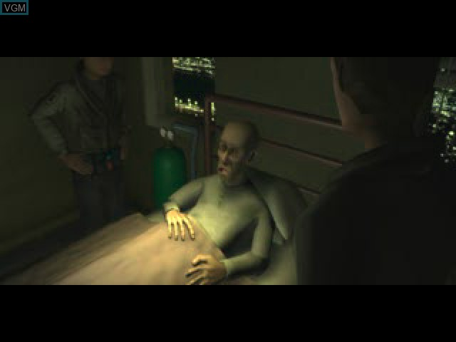 Menu screen of the game Hellboy - Asylum Seeker on Sony Playstation