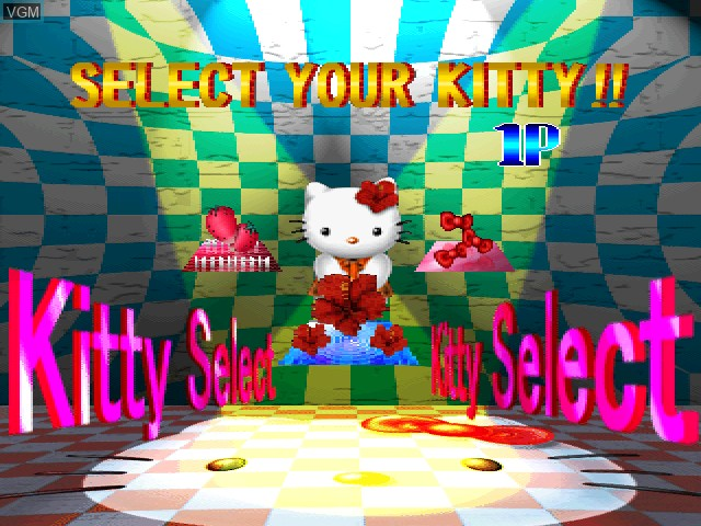 Menu screen of the game Hello Kitty - Cube Frenzy on Sony Playstation