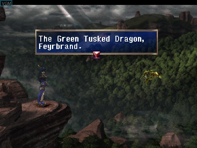 Menu screen of the game Legend of Dragoon, The on Sony Playstation