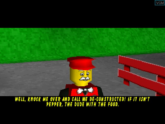 Menu screen of the game LEGO Island 2 - The Brickster's Revenge on Sony Playstation