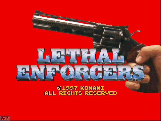 Menu screen of the game Lethal Enforcers I & II on Sony Playstation