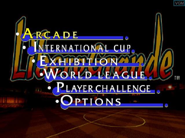 Menu screen of the game LiberoGrande on Sony Playstation