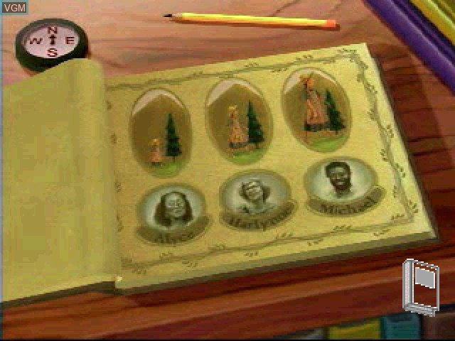Menu screen of the game Liquid Books Adventure 4 - The Adventures of Adelita and Bo on Sony Playstation