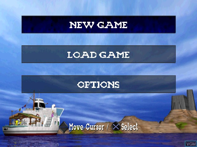 Menu screen of the game Little Big Adventure on Sony Playstation