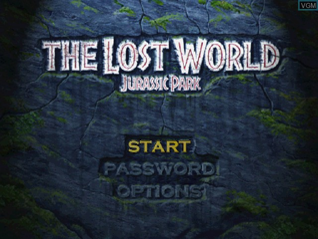 Menu screen of the game Lost World, The - Jurassic Park on Sony Playstation