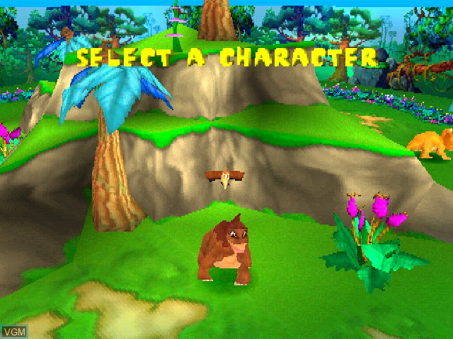 Menu screen of the game Land Before Time, The - Return to the Great Valley on Sony Playstation