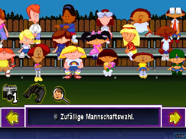 Menu screen of the game Junior Sports Fussball on Sony Playstation