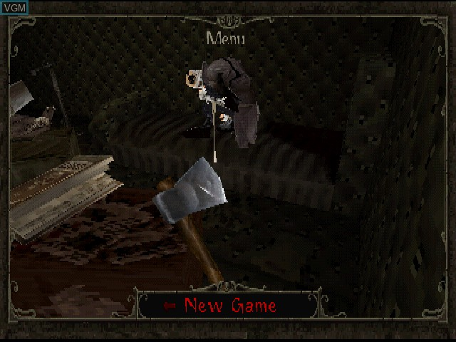 Menu screen of the game Nightmare Creatures II on Sony Playstation