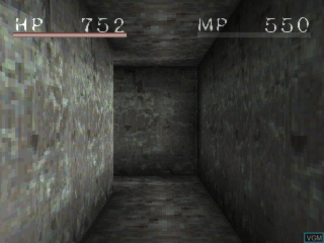 Menu screen of the game Shadow Tower on Sony Playstation