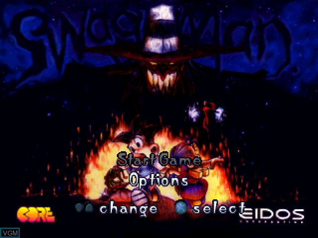 Menu screen of the game Swagman on Sony Playstation