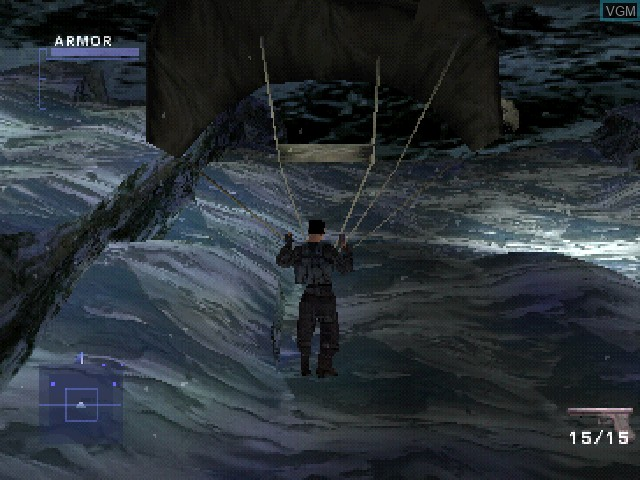 Menu screen of the game Syphon Filter 2 on Sony Playstation