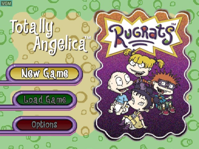 Menu screen of the game Nickelodeon Rugrats - Totally Angelica on Sony Playstation