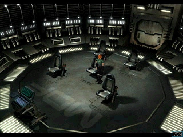 Menu screen of the game Vanark on Sony Playstation