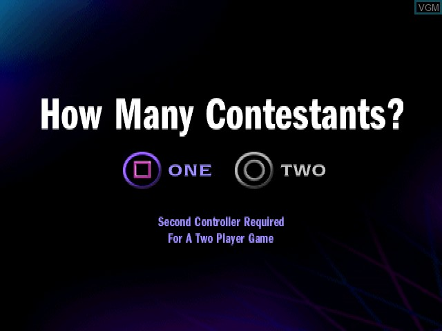Menu screen of the game Who Wants to Be a Millionaire - 2nd Edition on Sony Playstation