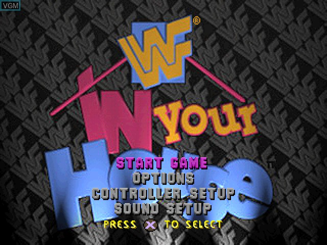 Menu screen of the game WWF In Your House on Sony Playstation