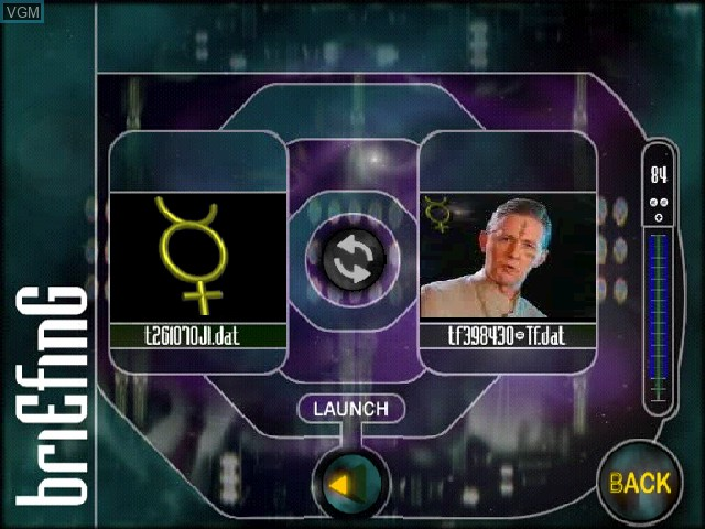 Menu screen of the game Xenocracy - The Ultimate Solar War on Sony Playstation