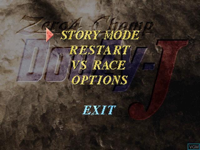 Menu screen of the game Zero4 Champ DooZy-J on Sony Playstation