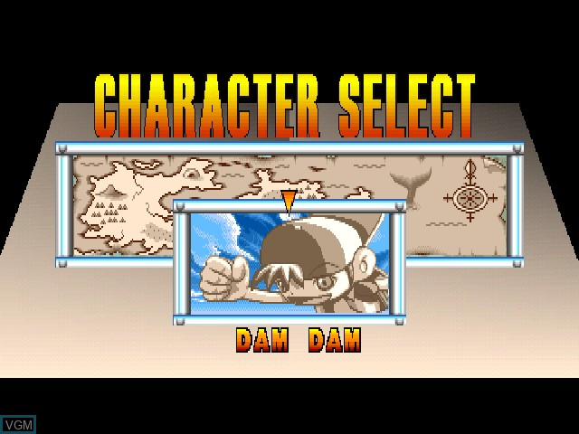 Menu screen of the game Damdam Stompland on Sony Playstation