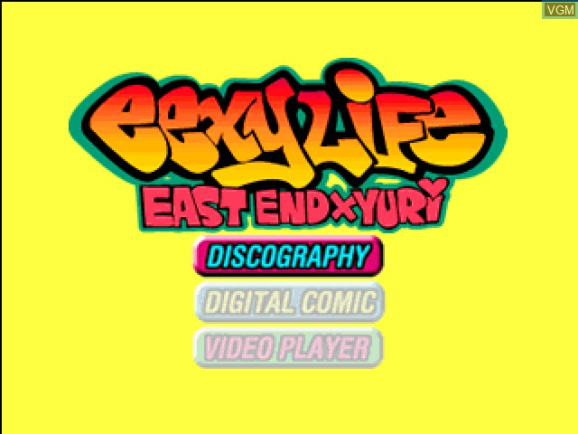 Menu screen of the game East End x Yuri - Eexy Life on Sony Playstation