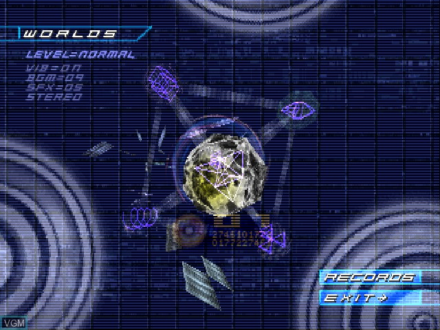 Menu screen of the game Lattice - 200EC7 on Sony Playstation