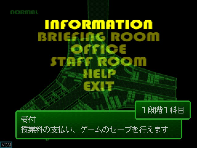 Menu screen of the game Pilot ni Narou! on Sony Playstation
