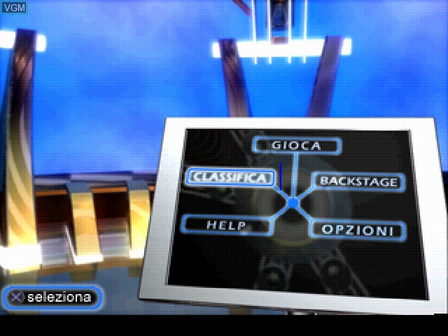Menu screen of the game Quiz Show on Sony Playstation